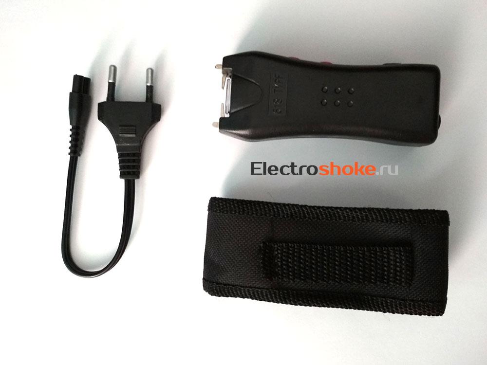 электрошокер 618 с зарядным устройством и чехлом